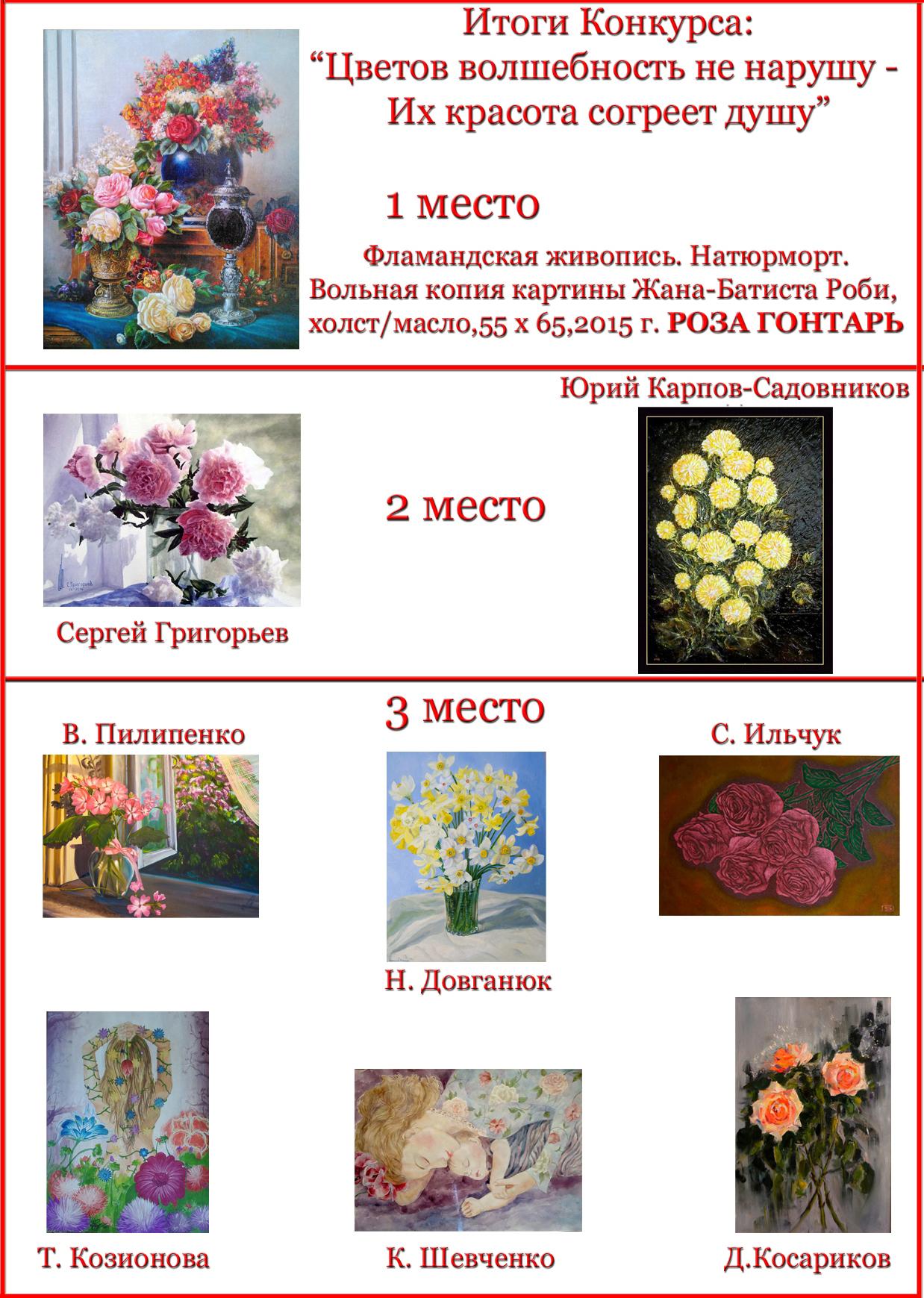 Конкурс цветов результаты конкурса